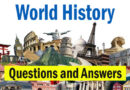 Important question and answer related to world history